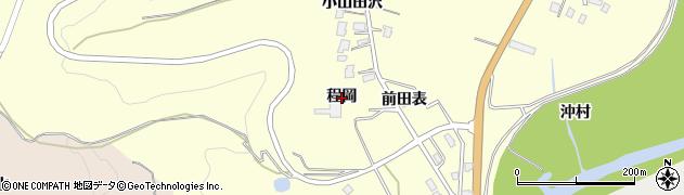 秋田県由利本荘市内黒瀬(程岡)周辺の地図