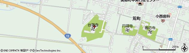 台蓮寺周辺の地図
