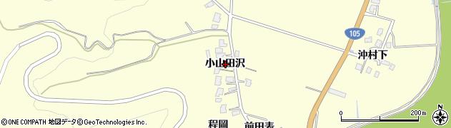 秋田県由利本荘市内黒瀬(小山田沢)周辺の地図
