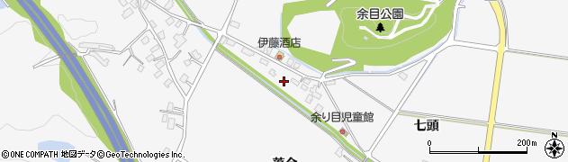 秋田県大仙市内小友(七頭)周辺の地図