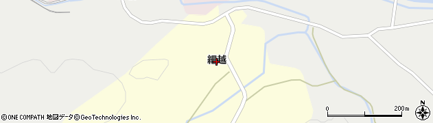 秋田県由利本荘市山田(細越)周辺の地図