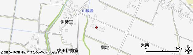 秋田県大仙市内小友(裏地)周辺の地図