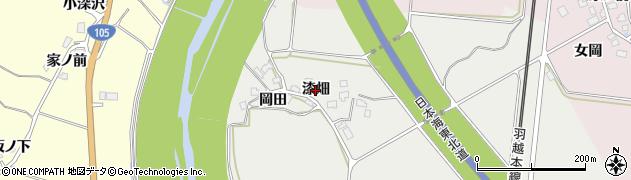 秋田県由利本荘市内越(漆畑)周辺の地図