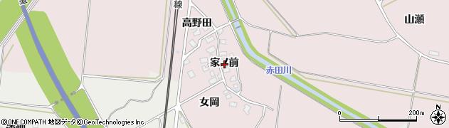 秋田県由利本荘市中館(家ノ前)周辺の地図