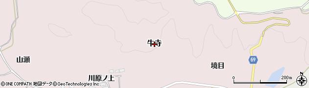 秋田県由利本荘市牛寺周辺の地図