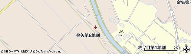 岩手県花巻市金矢(第6地割)周辺の地図