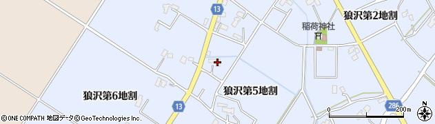 岩手県花巻市狼沢(第5地割)周辺の地図