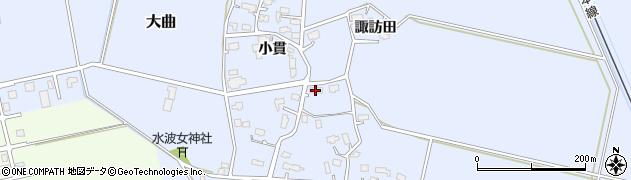 秋田県大仙市大曲(小貫)周辺の地図