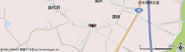 秋田県由利本荘市深沢(申田)周辺の地図