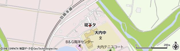 秋田県由利本荘市中館(堤下タ)周辺の地図