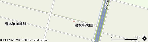 岩手県花巻市湯本(第9地割)周辺の地図