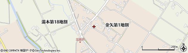 岩手県花巻市金矢(第1地割)周辺の地図