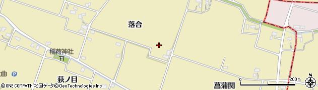 秋田県大仙市和合(落合)周辺の地図