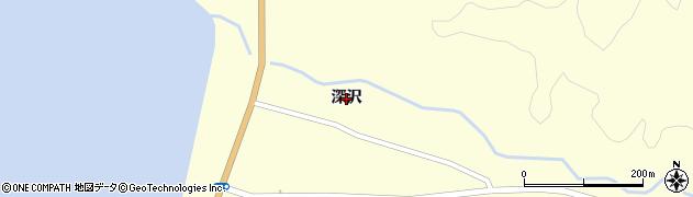 秋田県由利本荘市親川(深沢)周辺の地図