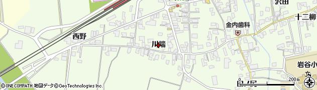 秋田県由利本荘市岩谷町(川端)周辺の地図