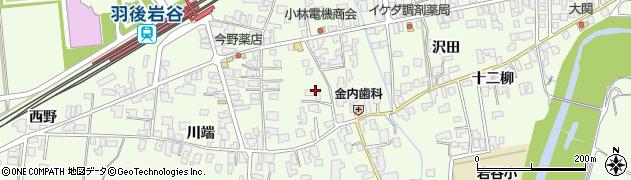 秋田県由利本荘市岩谷町(サト端)周辺の地図