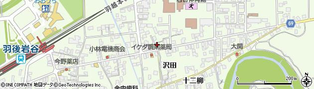 秋田県由利本荘市岩谷町(日渡)周辺の地図