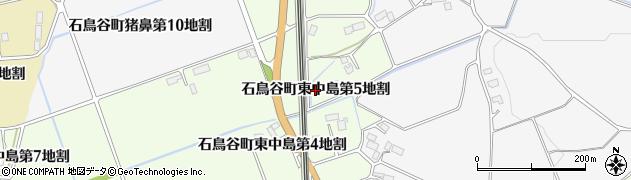 岩手県花巻市石鳥谷町東中島(第5地割)周辺の地図