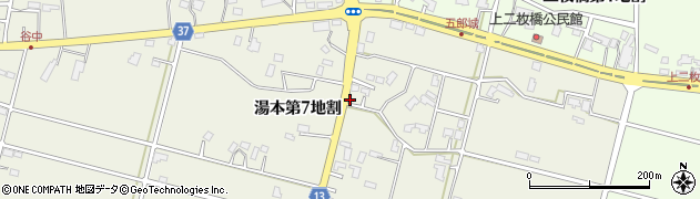岩手県花巻市湯本(第7地割)周辺の地図