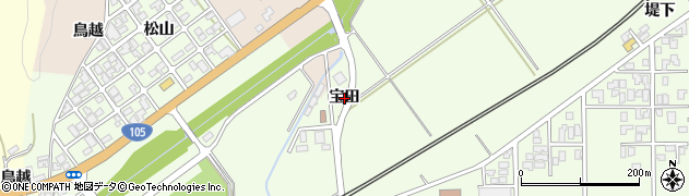 秋田県由利本荘市岩谷町(宝田)周辺の地図