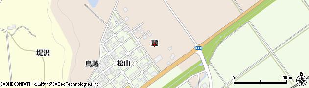 秋田県由利本荘市岩谷麓(麓)周辺の地図