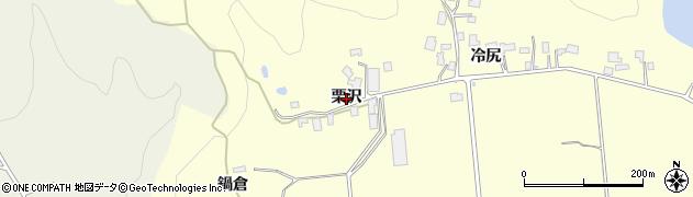 秋田県由利本荘市大谷(栗沢)周辺の地図