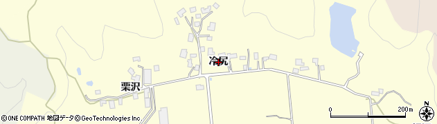 秋田県由利本荘市大谷(冷尻)周辺の地図