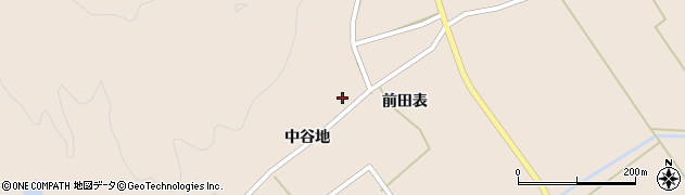 秋田県由利本荘市岩谷麓周辺の地図