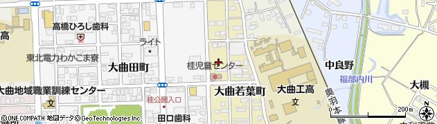 秋田県大仙市大曲若葉町周辺の地図