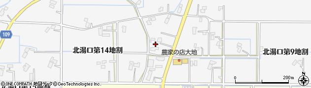 岩手県花巻市北湯口(第14地割)周辺の地図