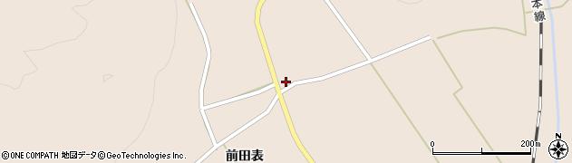秋田県由利本荘市岩谷麓(後小町)周辺の地図