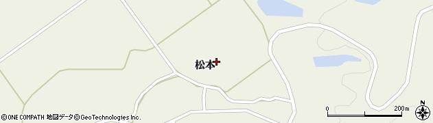 秋田県由利本荘市松本(道上)周辺の地図