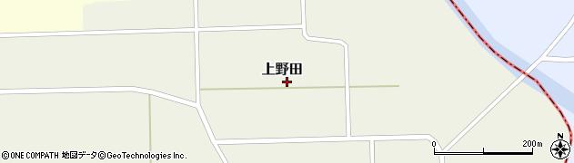 秋田県大仙市上野田(中村)周辺の地図