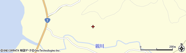 秋田県由利本荘市親川(小向)周辺の地図