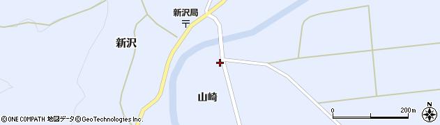 秋田県由利本荘市新沢(山崎)周辺の地図