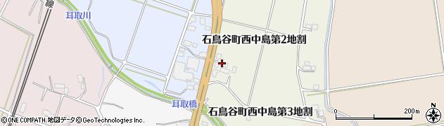 岩手県花巻市石鳥谷町西中島(第2地割)周辺の地図