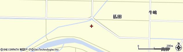 秋田県大仙市払田周辺の地図