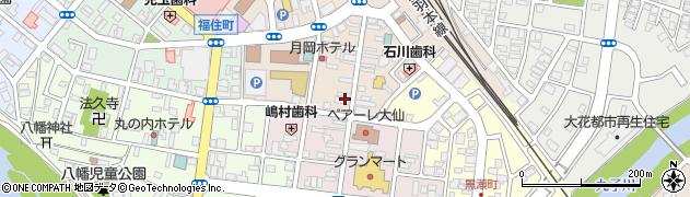 花火通り商店街周辺の地図