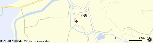 秋田県由利本荘市中帳(戸沢)周辺の地図