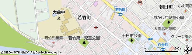 秋田県大仙市若竹町周辺の地図