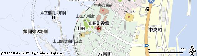 岩手県下閉伊郡山田町周辺の地図