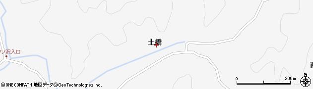 秋田県秋田市雄和萱ケ沢(土橋)周辺の地図