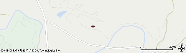 秋田県由利本荘市中俣(松山)周辺の地図