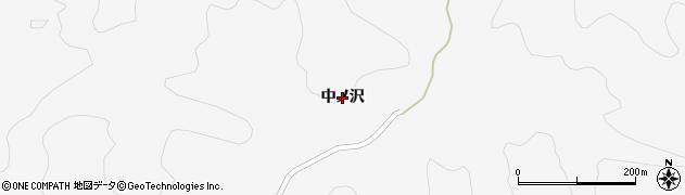 秋田県秋田市雄和萱ケ沢(中ノ沢)周辺の地図