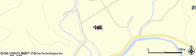 秋田県由利本荘市中帳周辺の地図