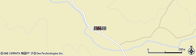 秋田県由利本荘市岩城上黒川(菖蒲田)周辺の地図