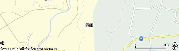 秋田県由利本荘市中帳(沢田)周辺の地図