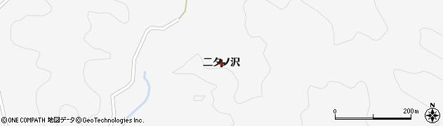 秋田県秋田市雄和萱ケ沢(二タノ沢)周辺の地図