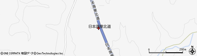 秋田県由利本荘市芦川(金ヶ沢)周辺の地図