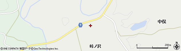 秋田県由利本荘市中俣(峠ノ沢)周辺の地図